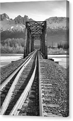 Matanuska Canvas Print - Mountain Rail by Ed Boudreau