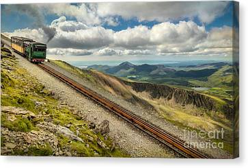 Mountain Railway Canvas Print by Adrian Evans