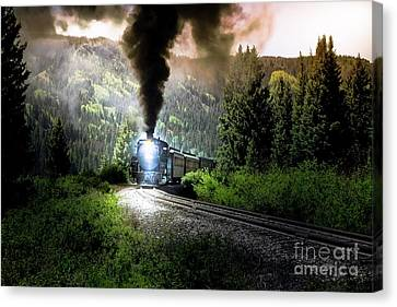 Canvas Print featuring the photograph Mountain Railway - Morning Whistle by Robert Frederick