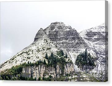 Mountain Range Snow Covered Canvas Print