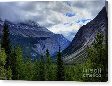 Mountain Ranges South Of Jasper Canvas Print