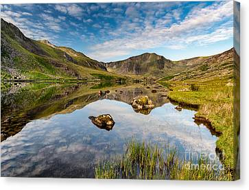 Cwm Idwal Canvas Print - Mountain Reflection by Adrian Evans