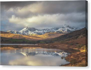 Mountain Reflections Canvas Print by Chris Fletcher