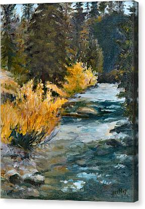 Mountain River Canvas Print by Rita Bentley