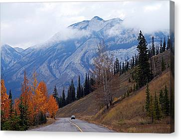 Mountain Road Canvas Print by Larry Ricker