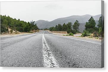 Moroccan Canvas Print - Mountain Road by Tom Gowanlock