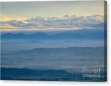 Mountain Scenery 11 Canvas Print by Jean Bernard Roussilhe