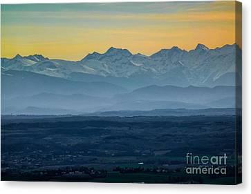 Mountain Scenery 12 Canvas Print by Jean Bernard Roussilhe