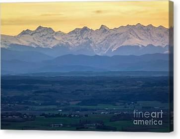 Mountain Scenery 15 Canvas Print by Jean Bernard Roussilhe