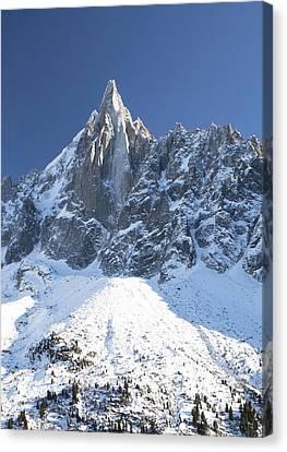 Mountain Scenery - Chamonix Canvas Print by Pat Speirs