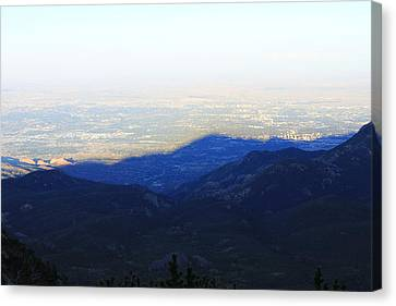 Mountain Shadow Canvas Print by Christin Brodie