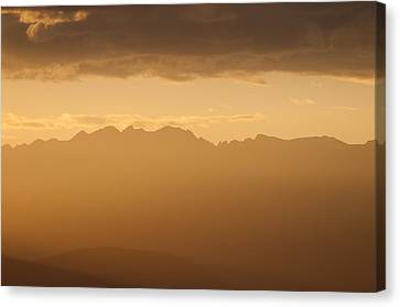 Mountain Shadows Canvas Print by Colleen Coccia