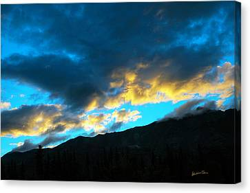 Canvas Print featuring the photograph Mountain Silhouette by Madeline Ellis
