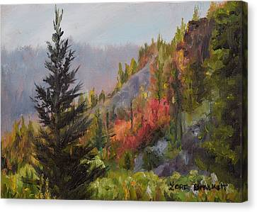 Mountain Slope Fall Canvas Print