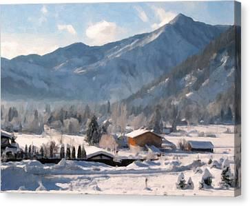 Mountain Snowscape Canvas Print by Danny Smythe