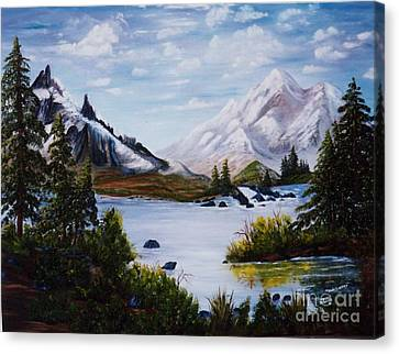 Mountain Splendor Canvas Print by Myrna Walsh