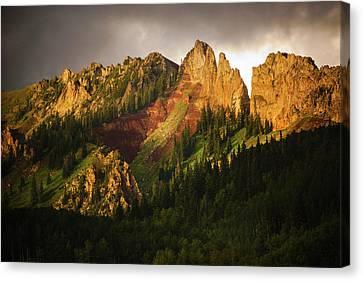 Mountain Storm Light Canvas Print