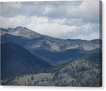 Mountain Storm Canvas Print by Paul Slebodnick