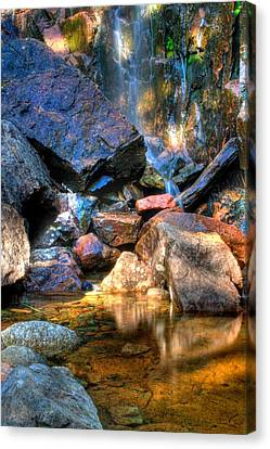 Canvas Print featuring the photograph Mountain Stream by Greg DeBeck