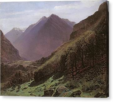 Mountain Study Canvas Print by Alexandre Calame