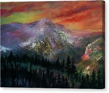 Mountain Summit Canvas Print by Jeffrey m Bozik