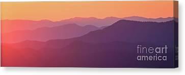 Smokey Mountains Canvas Print - Mountain Sunrise by Todd Bielby