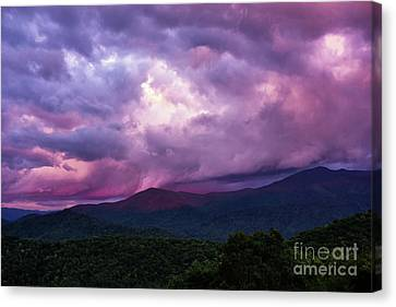 Mountain Sunset In The East Canvas Print