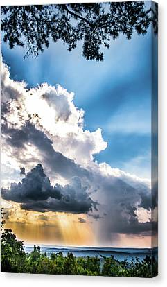 Canvas Print featuring the photograph Mountain Sunset Sightings by Shelby Young