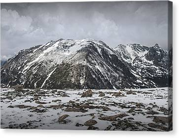 Mountain Tops In Rocky Mountain National Park Canvas Print