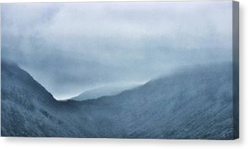 Line Style Canvas Print - Mountain Tops Or Ocean Waves by Martin Newman