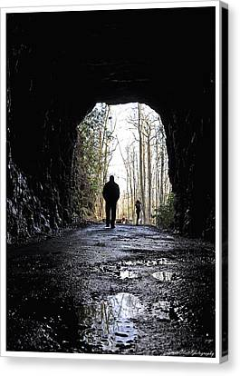 Mountain Tunnel Canvas Print