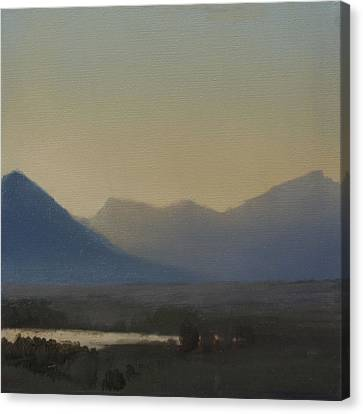 Mountain Valley Sold Canvas Print