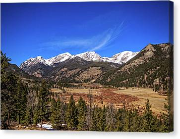 Canvas Print featuring the photograph Mountain View From Fall River Road In Rocky Mountain National Pa by Peter Ciro