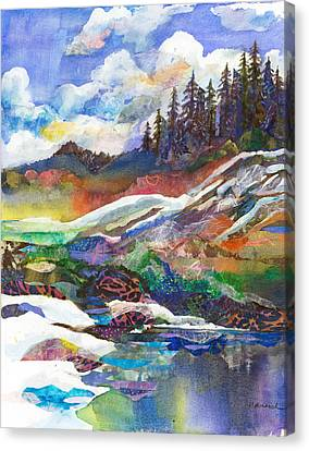 Mountain View Canvas Print by Marty Husted