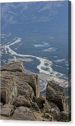 Canvas Print featuring the photograph Mountain View by Mary Mikawoz