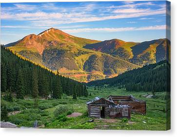 Old Cabins Canvas Print - Mountain Views by Darren White