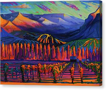 Mountain Vineyards, Chelan, Wa, Usa Canvas Print by Gregg Caudell