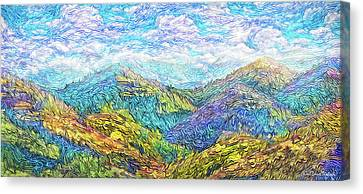 Mountain Waves - Boulder Colorado Vista Canvas Print