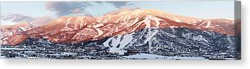 Canvas Print featuring the photograph Mountain Werner  by Daniel Hebard