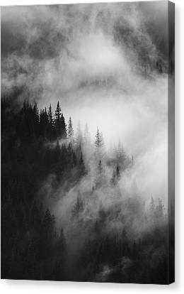 Mountain Whispers Canvas Print by Mike  Dawson
