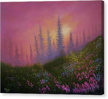 Mountain Wildflowers Canvas Print by C Steele
