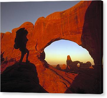 Mountaineering Arches National Park Ut Canvas Print by Panoramic Images