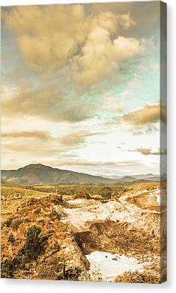 Mountainous Tasmania Scenery Canvas Print by Jorgo Photography - Wall Art Gallery