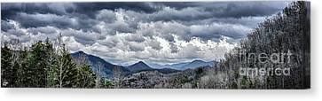Canvas Print featuring the photograph Mountains 1 by Walt Foegelle