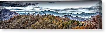 Canvas Print featuring the photograph Mountains 2 by Walt Foegelle