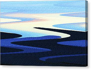 Mountains And Sky Abstract Canvas Print by Tom Janca