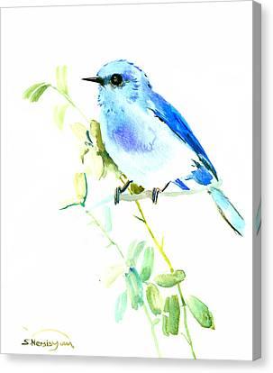 Mountains Bluebird Canvas Print by Suren Nersisyan