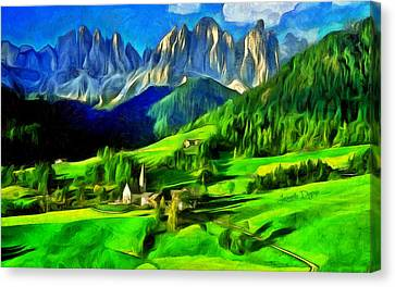 Terrain Canvas Print - Mountains - Da by Leonardo Digenio