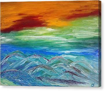 Mountains. Fantasy Canvas Print