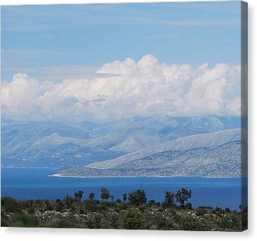 Mountains Far Away  3 Canvas Print by George Katechis